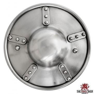 """9"""" Plated Buckler - 14 gauge"""