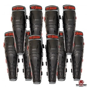 School Pack - Red Dragon HEMA Knee & Shin Protectors - 5 pairs for £175