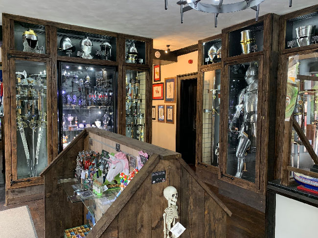 Shop area showing general medieval products